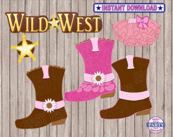 Wild West clipart cowboy boot Wild Etsy for Wild Art