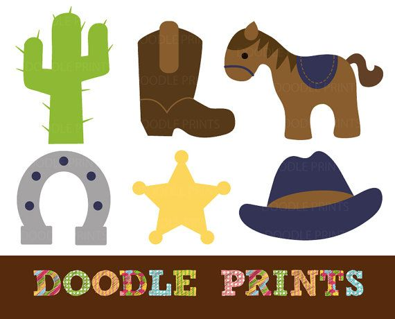 Cowboy clipart themed Cowboy Art and Pin