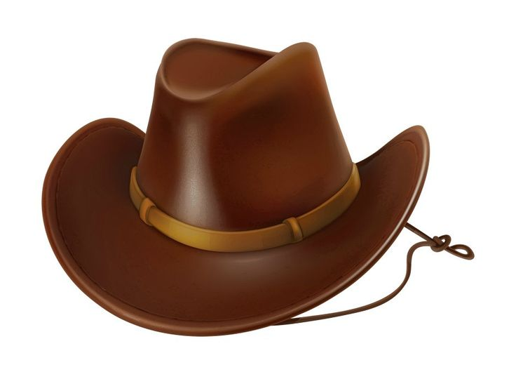 Wild West clipart cowboy hat Hat Brown Digital Cowboy Pinterest