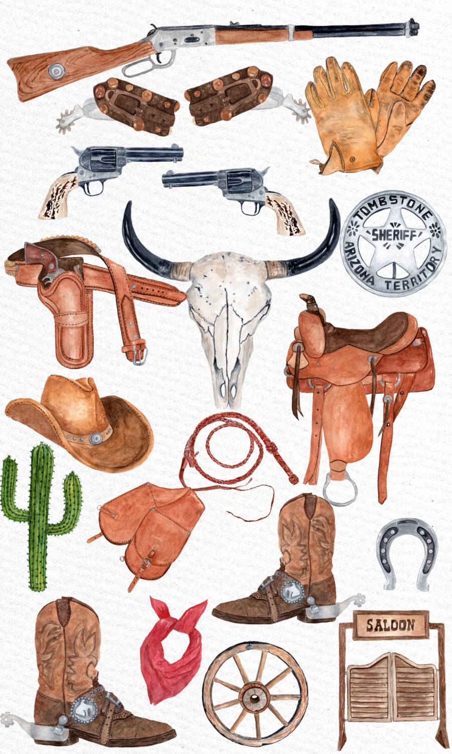 Wild West clipart cowboy hat Digital file Clipart