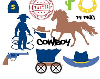 Wild West clipart cowboy horse Digital cowgirls SALE cowboy horse