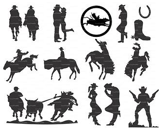 Wild West clipart cowboy horse #7
