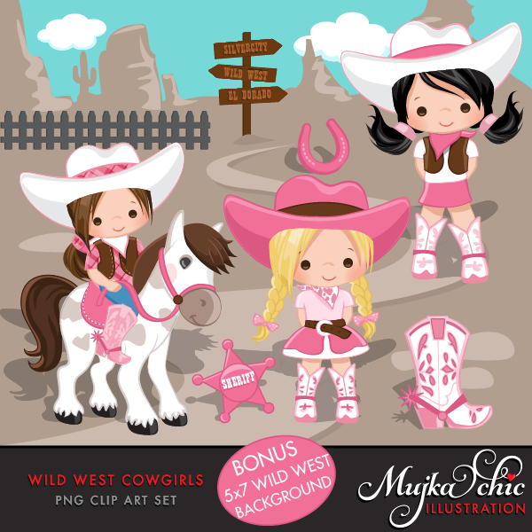 Cowgirl clipart little cowgirl Download Wild mujka West Wild