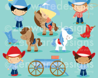 Wild West clipart cute cowboy & Wild Cute Red