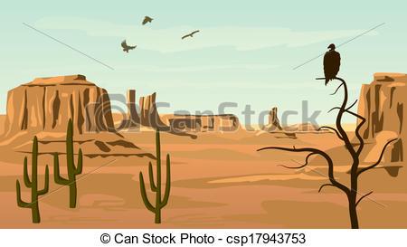 Wild West clipart landscape #4