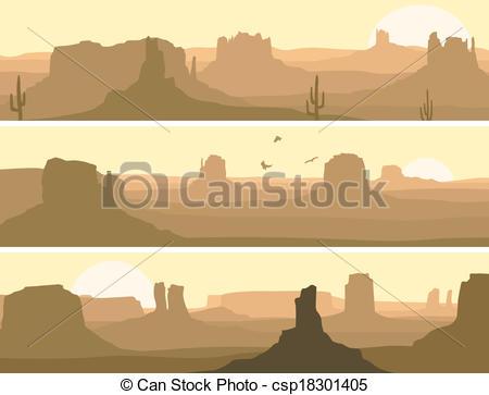Wild West clipart landscape #2
