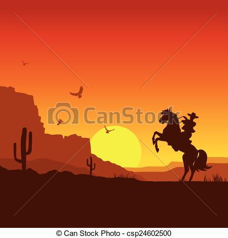 Wild West clipart landscape #1
