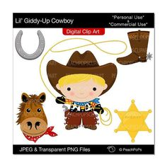 Western clipart little cowboy Giddy sheriff art Blonde boy