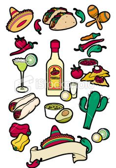 Wild West clipart mexican menu #15