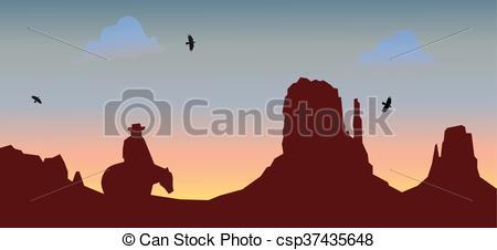 Wild West clipart mountain Vector illustration of Wild EPS