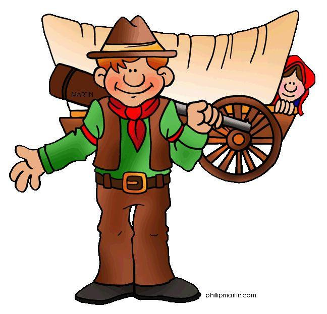 Wild West clipart pioneer wagon #6