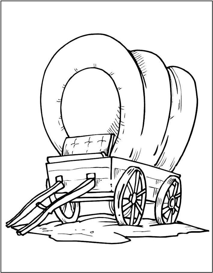 Wild West clipart pioneer wagon #8