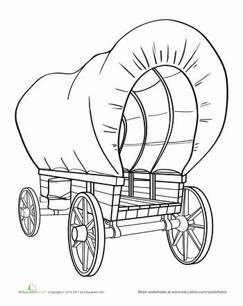 Wild West clipart pioneer wagon #7