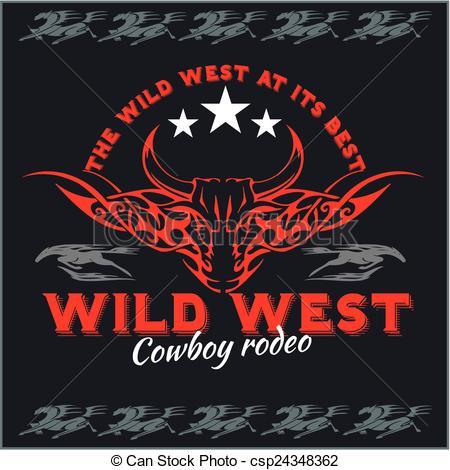 Wild West clipart rodeo Vector Wild Vector emblem Wild