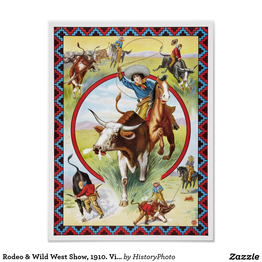 Wild West clipart rodeo Vintage & Rodeo Advertising Wild