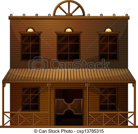Building clipart old west West Vector A bar wild