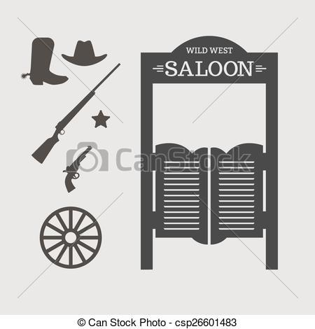 Wild West clipart saloon door Door  Wild Saloon Wild