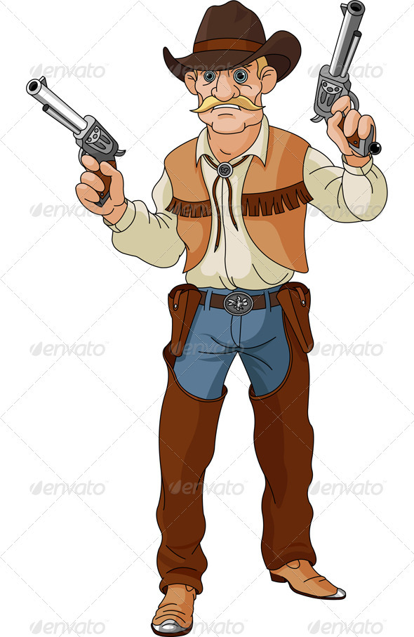 Wild West clipart shooter Ready Wild Cowboy Wild west