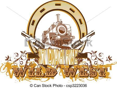 Wild West clipart western theme Patch Vectorial a Art II