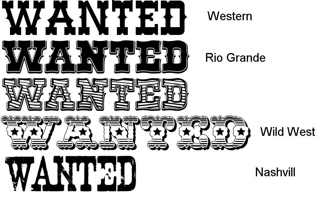 Wild West clipart westward expansion West Fonts old west Doodle