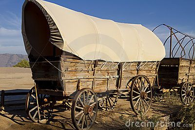 Western clipart covered wagon #15