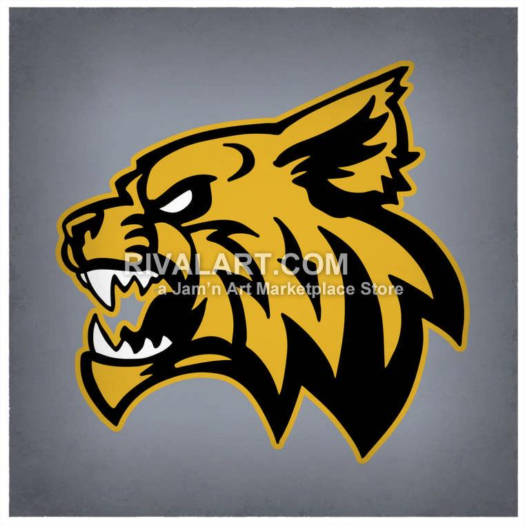 Wildcat clipart Wildcat Head Rivalart Side Clipart