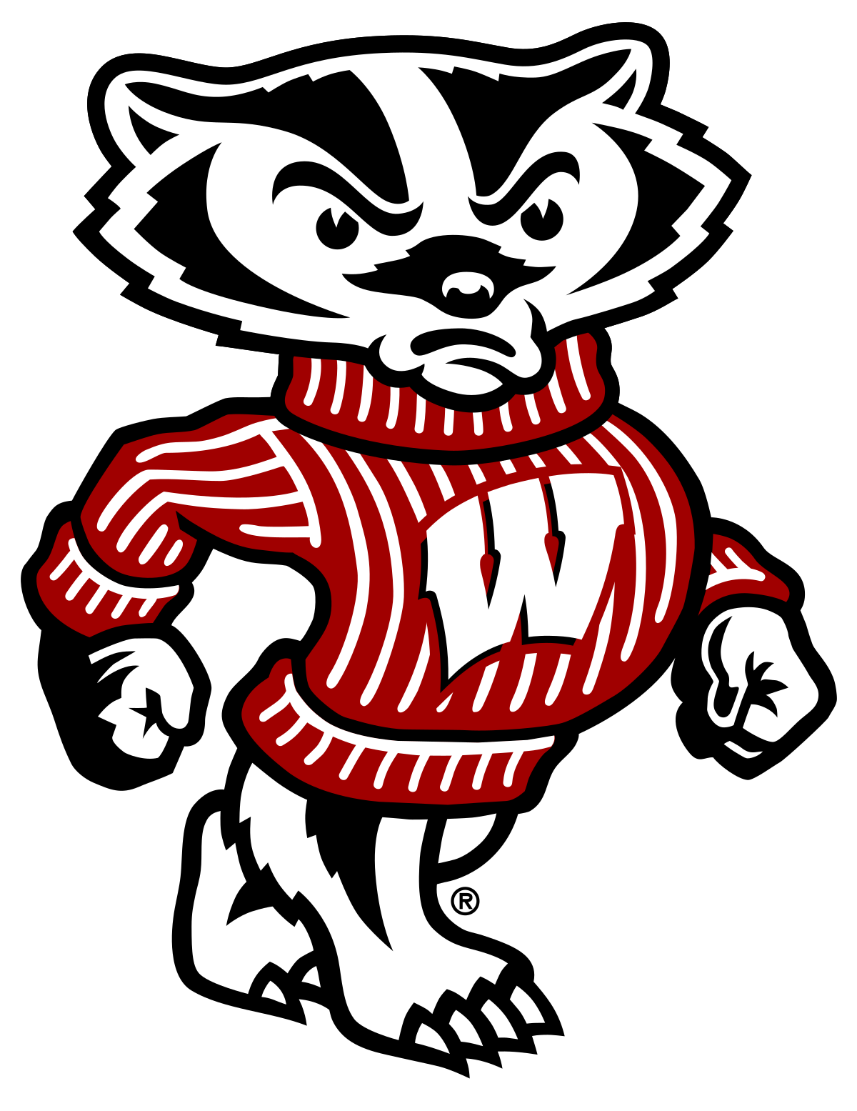 Badger clipart mascot Bucky Badger Wikipedia