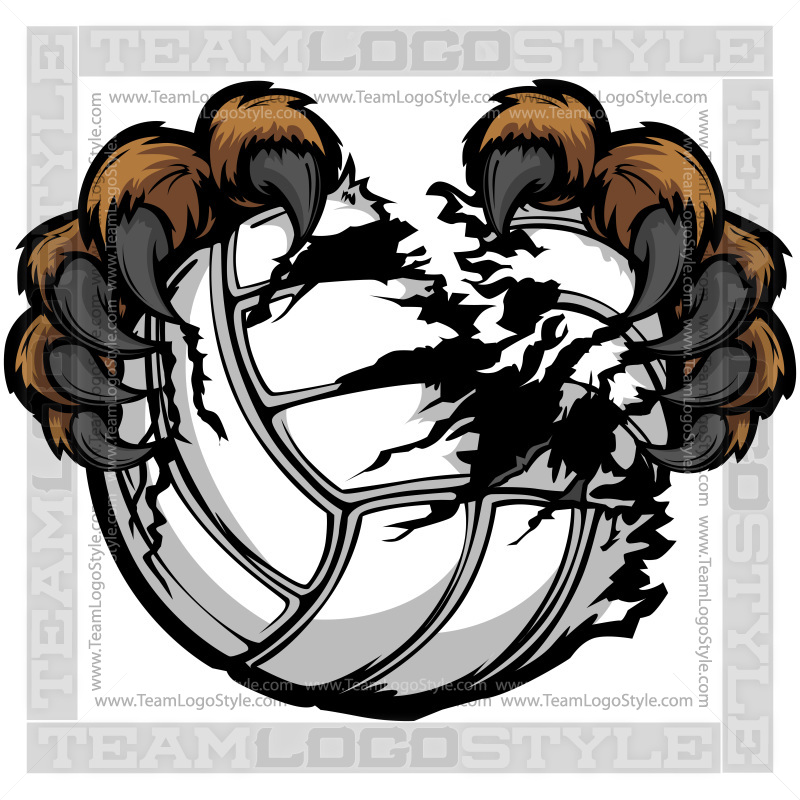 Wildcat clipart bear claw Clipart Clip Volleyball Claws Bear