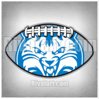 Wildcat clipart blue Football Rivalart in AR53 on