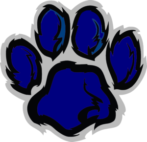 Wildcat clipart blue At Wild Navy Paw Blue