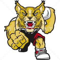 Wildcat clipart body Mascot  Color Wildcat Clipart