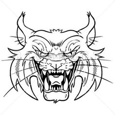 Wildcat clipart body And White Image of White