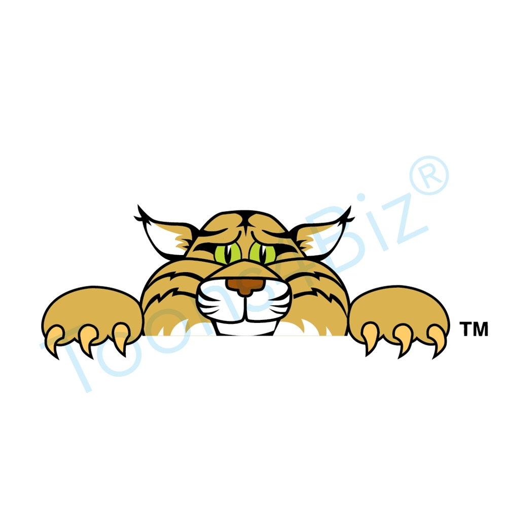 Wildcat clipart cartoon Over Clip Wildcat Art Graphic