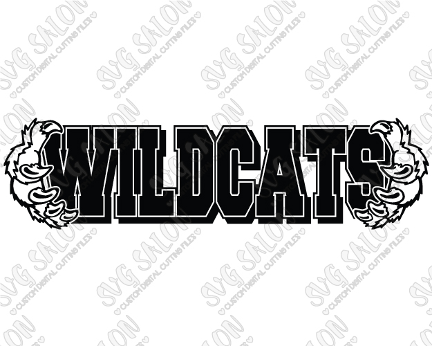 Wildcat clipart cat claw Frame Wildcats for Cutting On