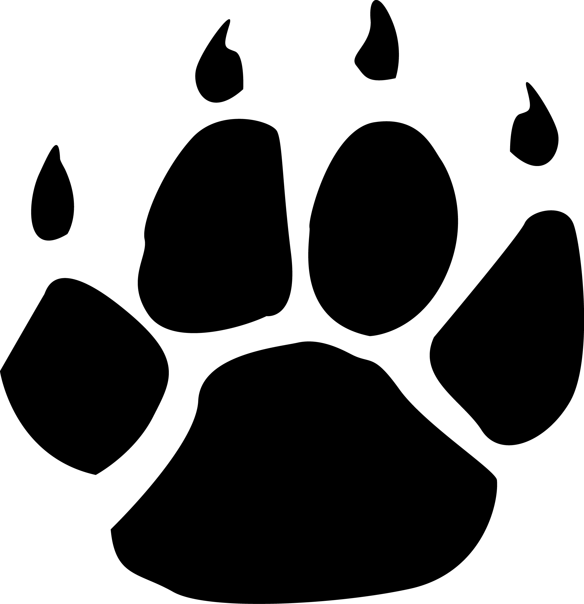Wildcat clipart cat's paw Paw Paw Prints Cliparts Wildcat