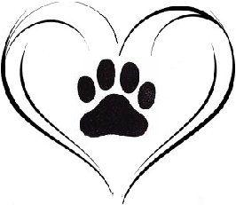 Wildcat clipart cat's paw Best art Pinterest Paw Heart