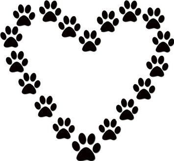 Drawn puppy paw print For gallery Wildcat clipart dog
