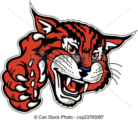 Bobcat clipart wildcat With csp23783097 with paw of