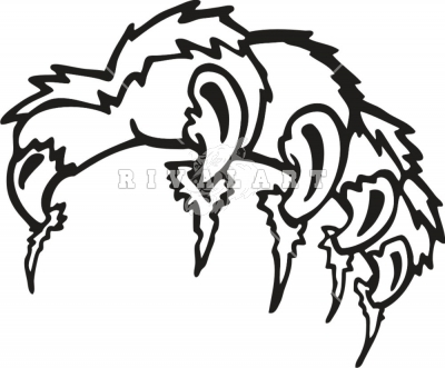 Wolverine clipart tiger claw Wildcat Clipart 400x331 Claw Resolution