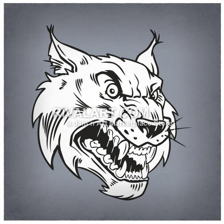 Wildcat clipart hawk Vicious Clipart Mean Bobcats Head