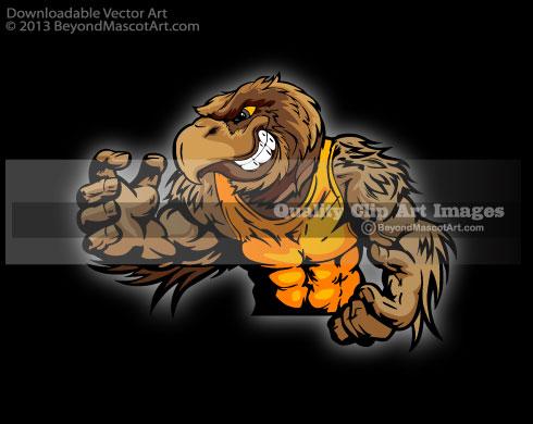 Wildcat clipart hawk Team Wrestling Art Art Mascot