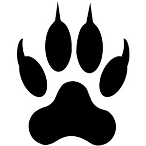 Wolverine clipart paw Print pdclipart clipart prints for