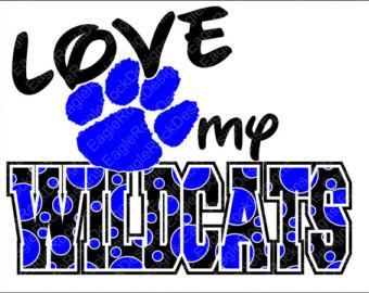 Wildcat clipart jersey Etsy Cricut Love art Wildcats