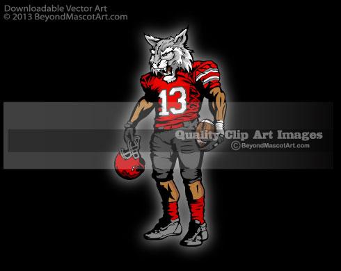 Wildcat clipart jersey Mascot 1304 Football Mascot Clip