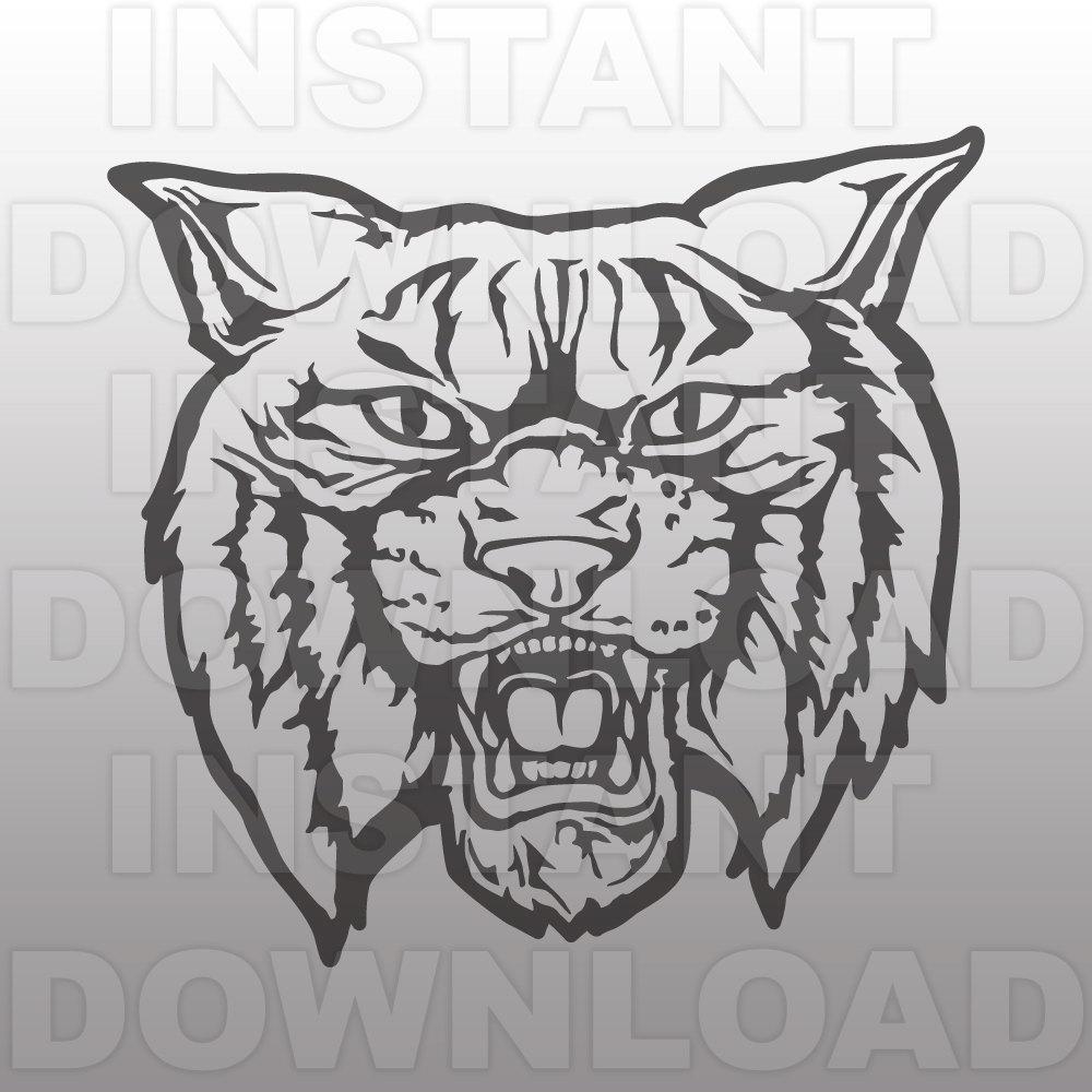 Wildcat clipart jersey Etsy Personal Wildcats art SVG