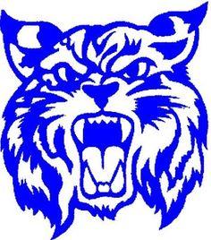 Wildcat clipart jersey Arizona Wildcat Blue art Logo