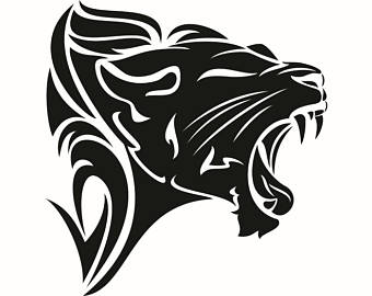 Wildcat clipart lion's Tribal Lion Etsy Female Wild