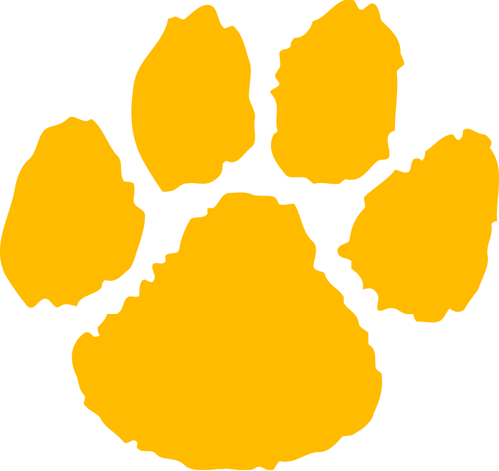 Wildcat clipart panther paw Wildcats clipart Michigan Alternate paw