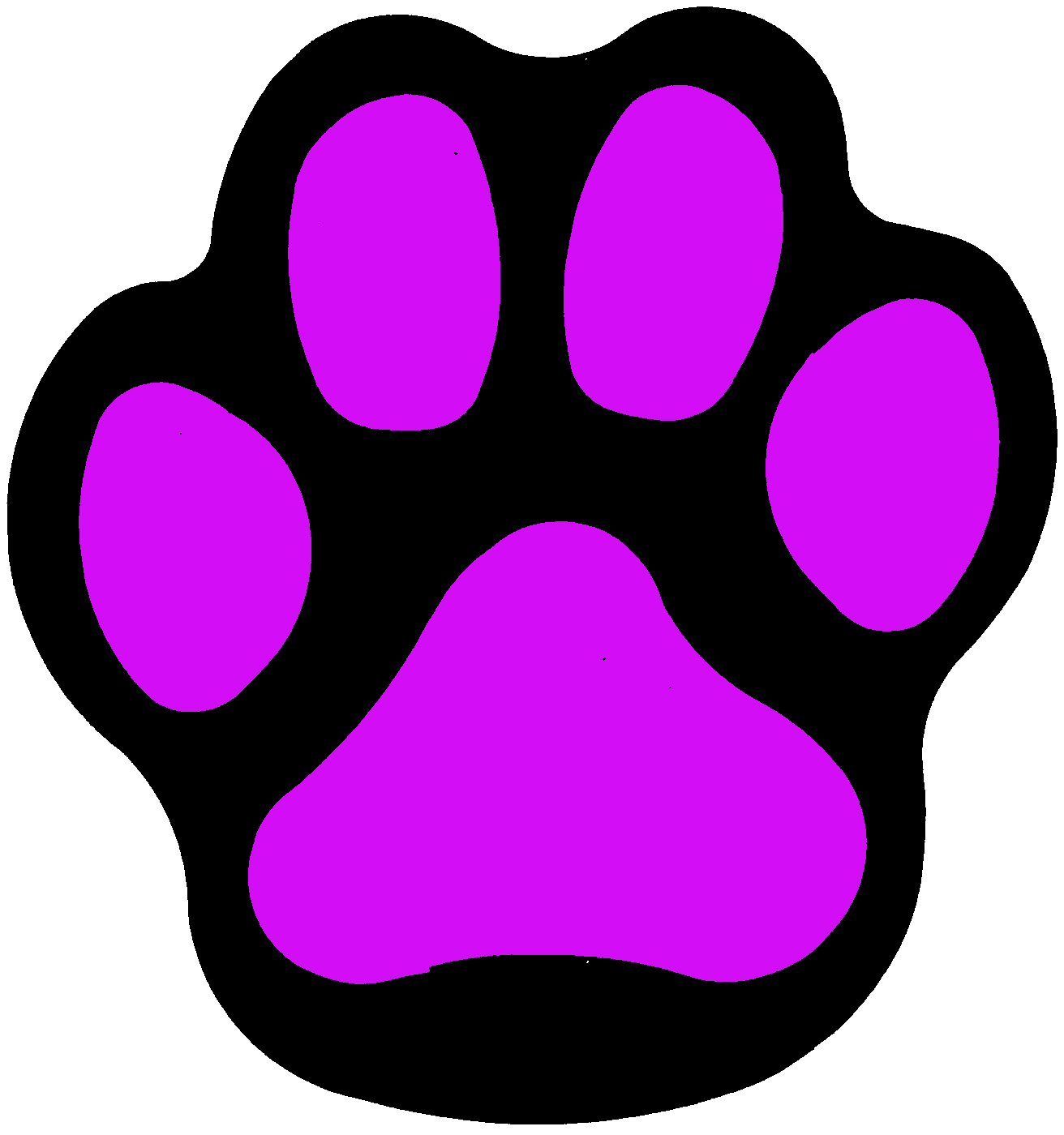 Wildcat clipart panther paw Print paw Etsy paw Purple