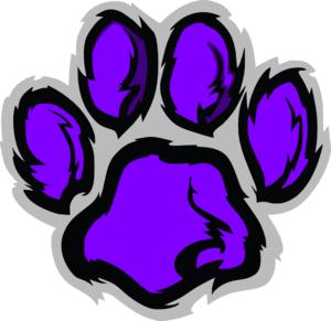 Wildcat clipart paw print Pawprint vector Wildcat Clker Clip